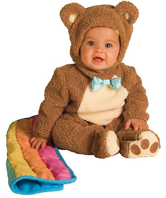 Halloween Costumes With Flannels (Oatmeal Bear With Rainbow Blankee Costume Chenille & Flannel Jumpsuit)