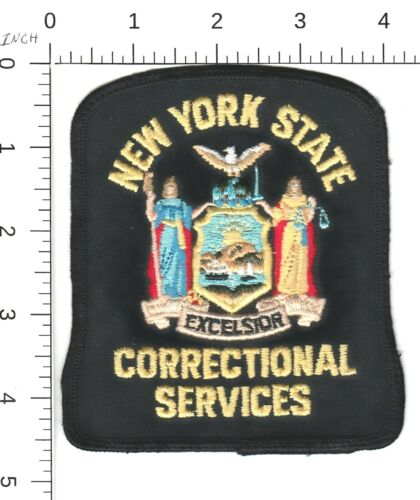 VINTAGE NEW YORK STATE CORRECTIONAL SERVICES POLICE PATCH NY