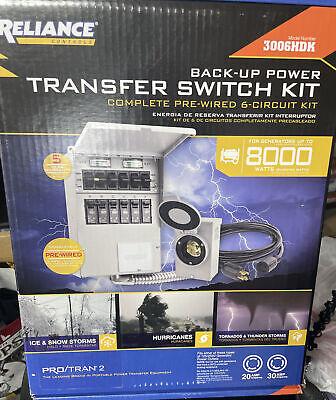 New Reliance Back Up Power Transfer Switch Kit 3006hdk