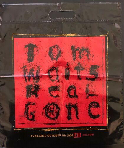 TOM WAITS REAL GONE ORIGINAL LABEL PROMO PLASTIC RECORD BAG 15X18 NEVER USED