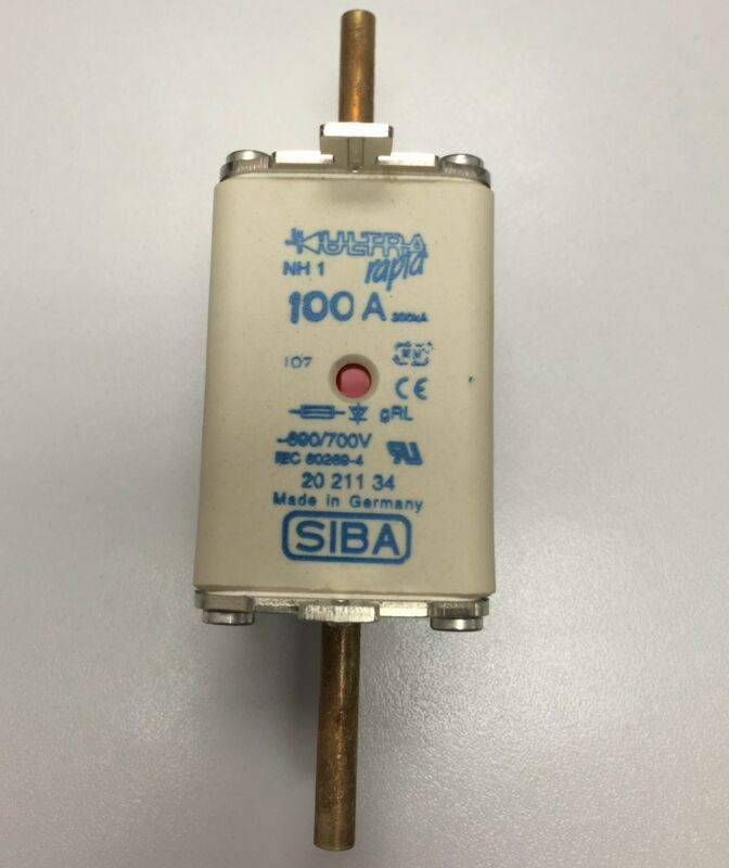 SIBA fuse - NH1 - 100amp 20211034  20 211 34 NEW Made in Germany
