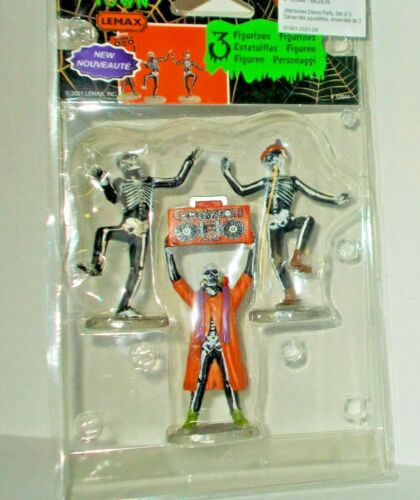 NEW LEMAX SPOOKY TOWN 2021 JITTERBONES DANCE PARTY SET OF 3 FREE SHIP