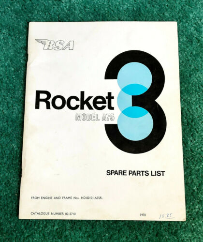 ORIGINAL 1970 BSA MOTORCYCLE PARTS MANUAL CATALOG ROCKET-3 A75 750 TRIPLE