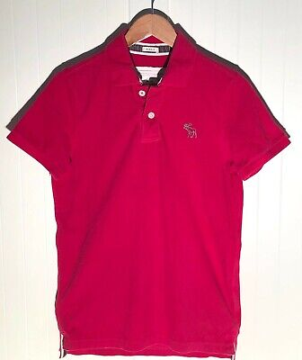 Abercrombie & Fitch Men's Muscle Fit Red Polo Shirt size M