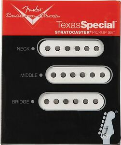 Genuine Fender Custom Shop Texas Special Strat Pickup Set New USA Made +Gifts