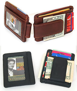 Mens-Money-Clip-Front-Pocket-Wallet-Card-Case-Billfold