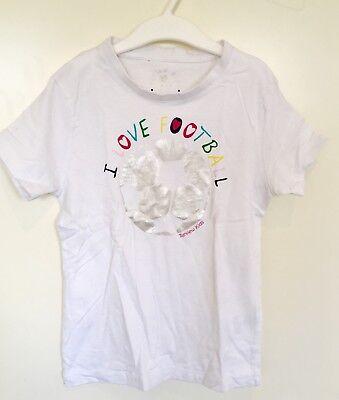 Tshirt ⚽️ I LOVE FOOTBALL ⚽️ Gr. 128/ 134 by Review weiß, gebraucht gebraucht kaufen  Gevelsberg