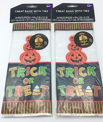 Candy Treat Bag Jack O-lantern - Wilton Halloween Candy Bags Party Treat Bag 5 pk 100 Bags Total Jack O Lantern