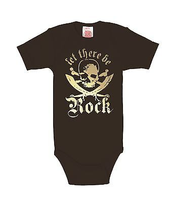 Let There Be Rock - Baby Body - Baby Strampler - Goldfolie - schwarz - LOGOSHIRT