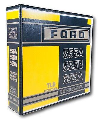 Ford 555a 555b 655a Tractor Loader Backhoe Service Repair Shop Manual Se-4455