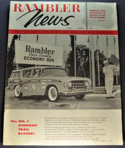 1956 Rambler News Brochure Economy Run Station Wagon AMC Nice Original 56