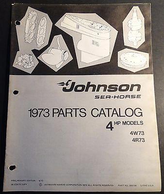 1973 JOHNSON SEA-HORSE OUTBOARD 4 HP PARTS MANUAL  P/N 386130  (409)