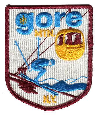 "1970'S GORE MOUNTAIN NORTH CREEK NEW YORK 3.75"" SKIING VINTAGE SOUVENIR PATCH"