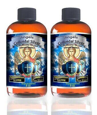 Colloidal Silver 16 oz BEST NANO 10ppm Antibiotic Colds Flue pets