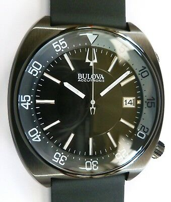 Accutron Black Bracelet - Bulova Accutron II - ION-PLATED BLACK SNORKEL - Bracelet & Barton Rubber - NEW
