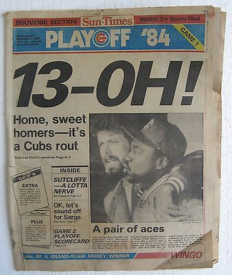 1984 10 3 Chicago Sun Times Playoff    13   Oh  Home  Sweet Homers   20 Pages