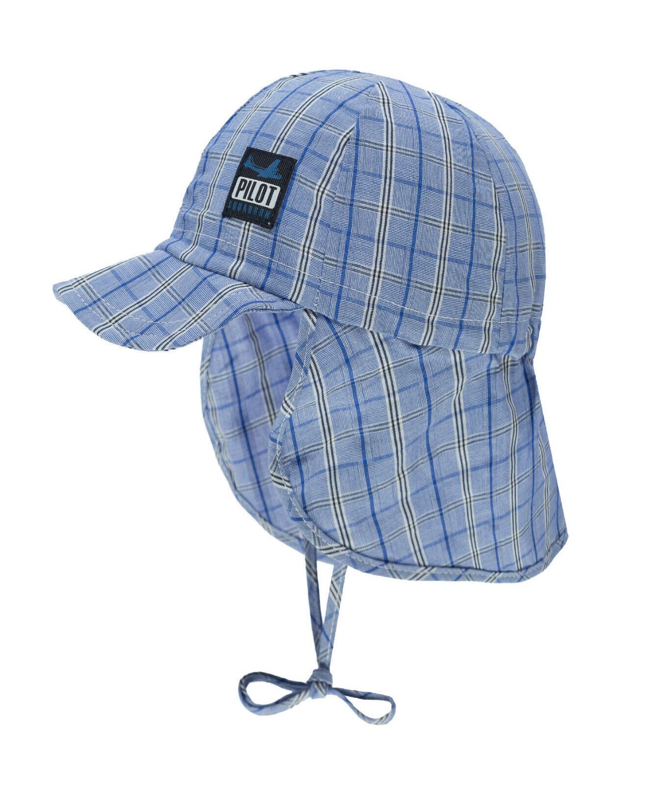 DÖLL® Jungen Sonnenhut Hut Nackenschutz Mütze Blau 47-57 S 2019 NEU!