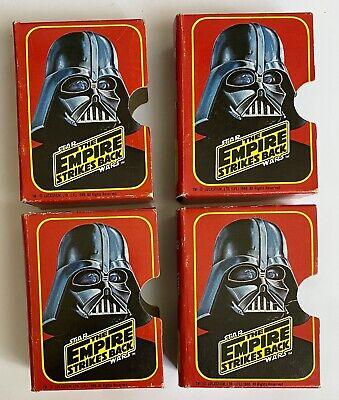 EMPTY 4 Star Wars Topps Empire Strikes Back 1980 Collecting Box Darth Vader C3PO
