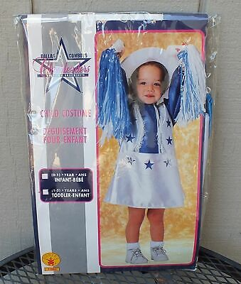 Rubies Kids Halloween Costume Dallas Cowboys Cheerleaders, Size 1-2 years - Dallas Cowboys Halloween Costumes