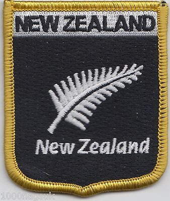 New Zealand Silver Fern Flag Embroidered Patch Badge