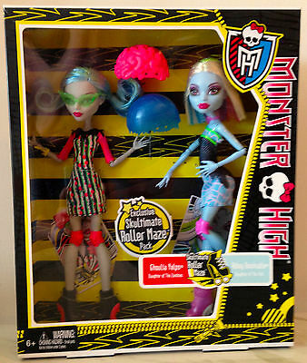 Monster High Skultimate Roller Maze 2 - Pack Ghoulia Yelps Abbey Abominable NIB