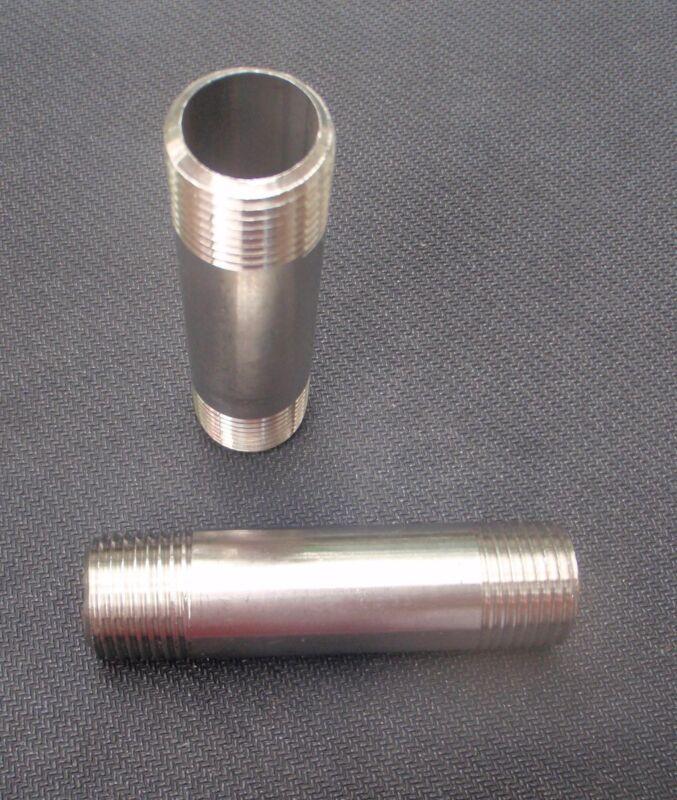 """NP-075-015 STAINLESS STEEL NIPPLE 3/4"""" NPT x 1 1/2"""" LONG PIPE"""