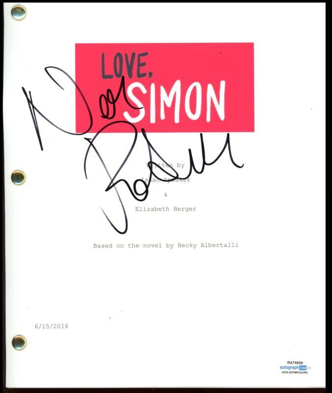 "Nick Robinson ""Love, Simon"" AUTOGRAPH Signed Full Complete Script Screenplay"