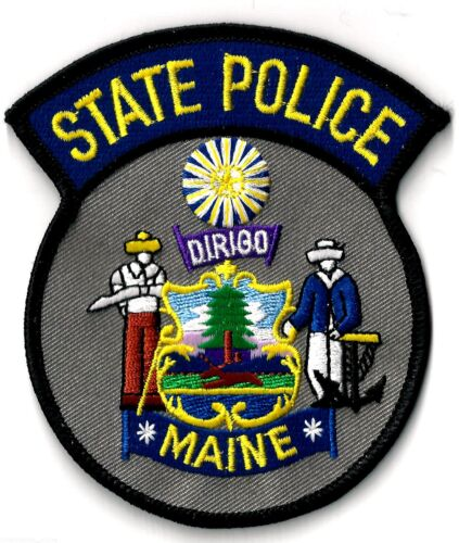 STATE POLICE OF MAINE - SHOULDER PATCH - IRON OR SEW-ON PATCH