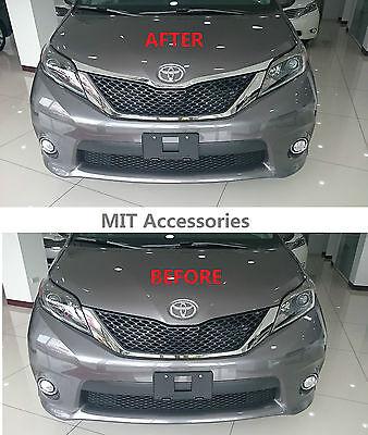 MIT for TOYOTA SIENNA 2011-2016 Enginee Hood Garnish chrome cover trim ABS