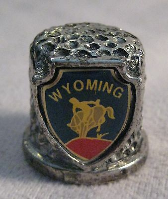 Wyoming Collectible Pewter Thimble - * Free Shipping *