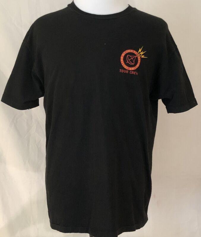 U2 1992 ZooTV Outside Broadcast Tour Crew Shirt Size XL