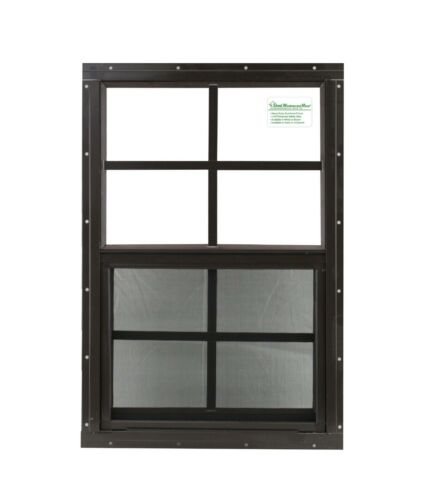 """Shed Window 12"""" x 18"""" Brown Flush SAFETY /TEMPERED GLASS Playhouses Coops"""