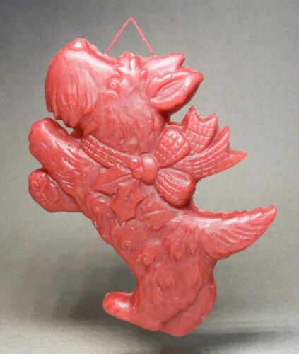 Red Wax Scotty Dog Ornament