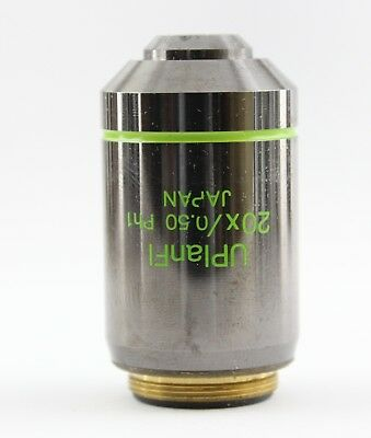 Olympus Uplanfl Ph1 20x 0.50 Phase Contrast Microscope Objective Ax Bx Ix