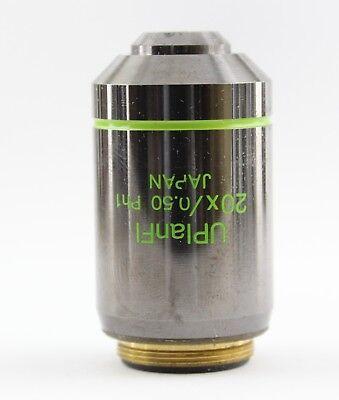 Olympus Uplanfl Ph1 20x 0.50 Phase Contrast Microscope Objective Ax Bx Ix