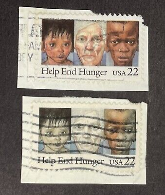 EFO-Major Color Diff-1985-Scott #2164-22Cent-End Hunger-Used-Any Interest? Buy!