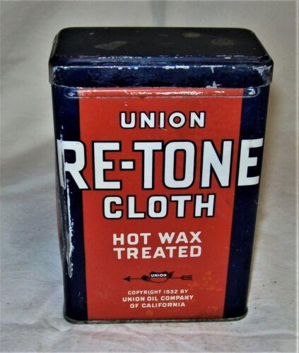 Vintage Empty Union Oil Co. Hot WaxTreated Cloth Tin