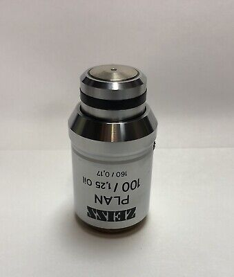 Zeiss Plan 100x1.30 Oil Microscope Objective Lens 160mm Axio Axioskop 461932