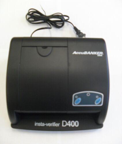 AccuBanker D400 Insta-verifyer counterfeit Bill Detector cash handling security