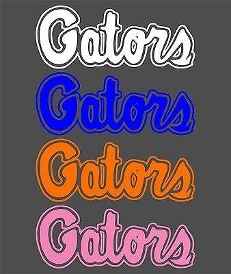 Florida Gators Decal White Blue Orange Pink Different Sizes