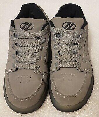 HEELYS Premium 1 LO Skate Sneakers Boys Sz Youth 2 Gray Black