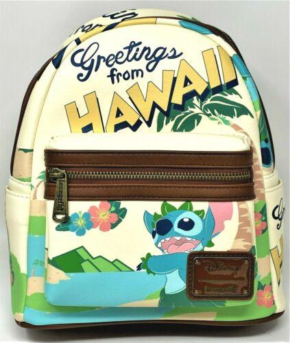 Loungefly GREETINGS FROM HAWAII Mini Backpack Stitch Lilo Aloha Brand New!