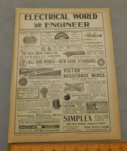 Electrical World & Engineer Magazine  April 27 1901 Issue  Antique Electric