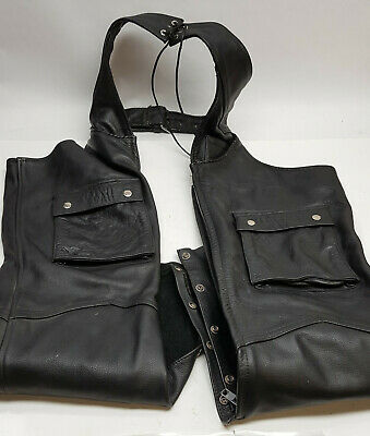 River Road Plain Chaps made from imported Leather for the motorcyclist covid 19 (River Road Plain Leather coronavirus)