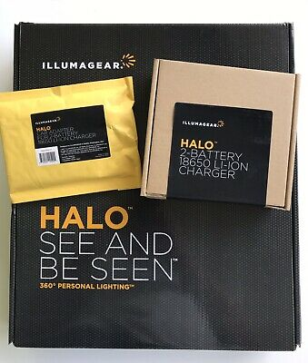 Illumagear Halo 360 Deg Hard Hat Light W Charger Kit And Car Adapter Charger