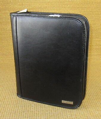 Classic 1.5 Rings Black Leather Franklin Covey Zipper Plannerbinder W Tab