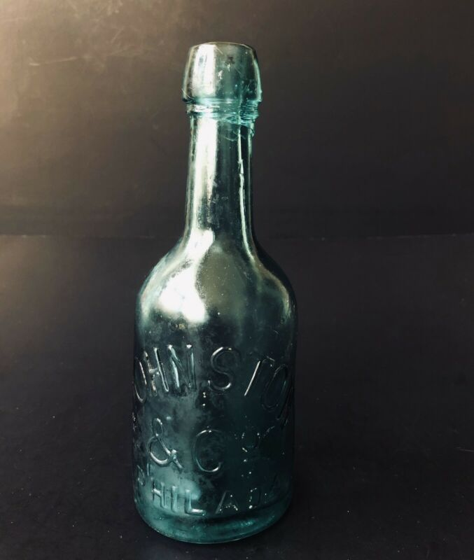 Vintage Johnston & Co Philadelphia Blob Soda Bottle