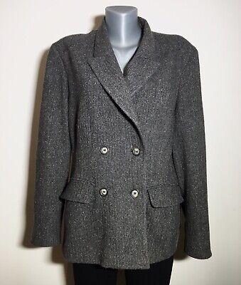 IVAN GRUNDAHL Black/Beige Wool Blend Coat , Size:44