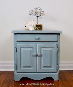 Shabby chic chalk paint cabinet