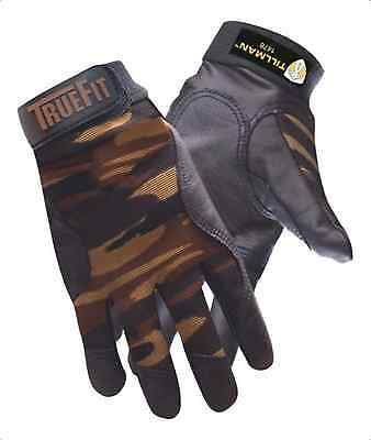 1pr Tillman Medium Truefit Camouflage Back W Top Grain Cowhide Palm Glove 1478m
